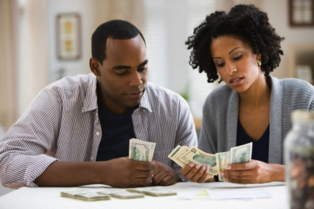 couple money woman