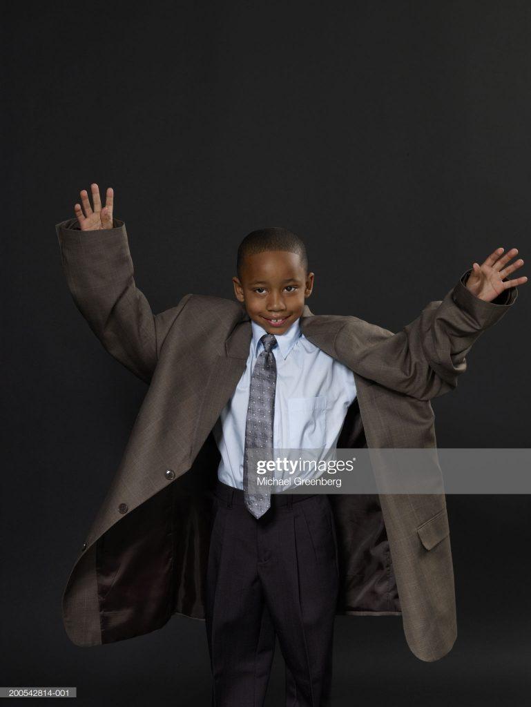 oversized suit job