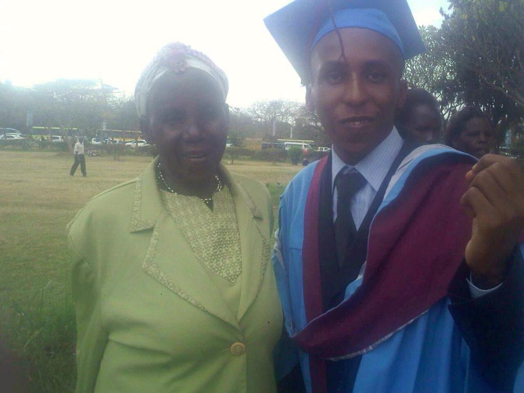 graduating with grandma