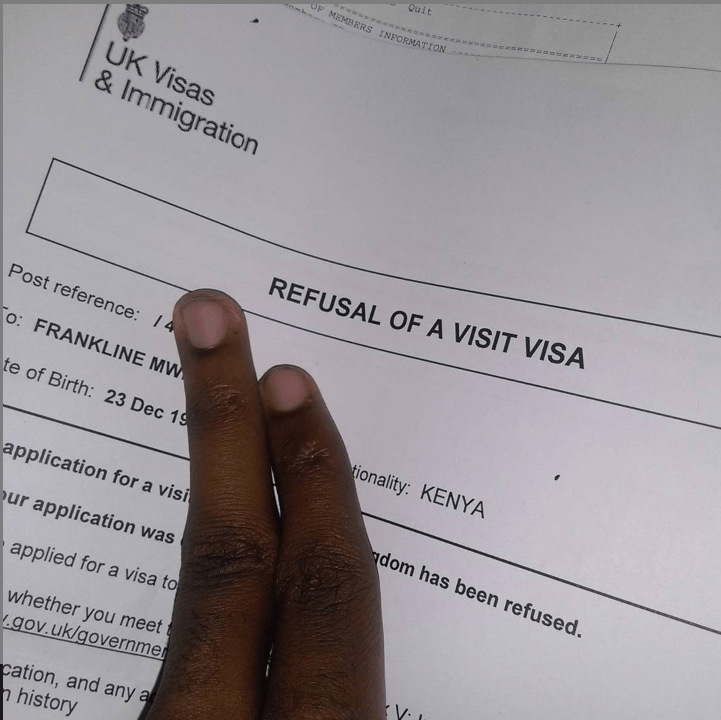 UK visa denied