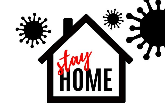 stay at home. don't give coronavirus a chance